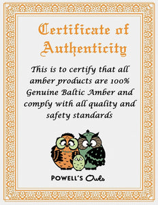 "Powell's Owl's Amber Teething Bracelet 5.5"" - Baroque Unpolished Multi 4 Color"