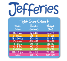 Load image into Gallery viewer, Jefferies Socks - Girls Pima Cotton Solid Color Tights (4 color options)