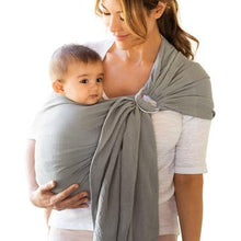 Load image into Gallery viewer, MOBY Ring Sling - Double Gauze - Pewter