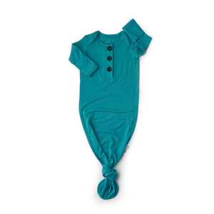 Gigi and Max Knotted Button Gown - Jude Teal