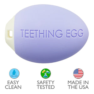 The Teething Egg Teether - Lavender
