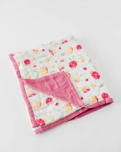 Load image into Gallery viewer, Little Unicorn Deluxe Muslin Baby Quilt - Grapefruit