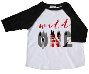 """Wild One"" First Birthday Raglan Tee - Mumsy Goose"