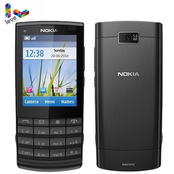 Nokia X3-02 Original Mobile Phones GSM 3G Wifi Bluetooth 5MP Camera Support Russian Keyboard Refurbished Unlocked Cell Phone