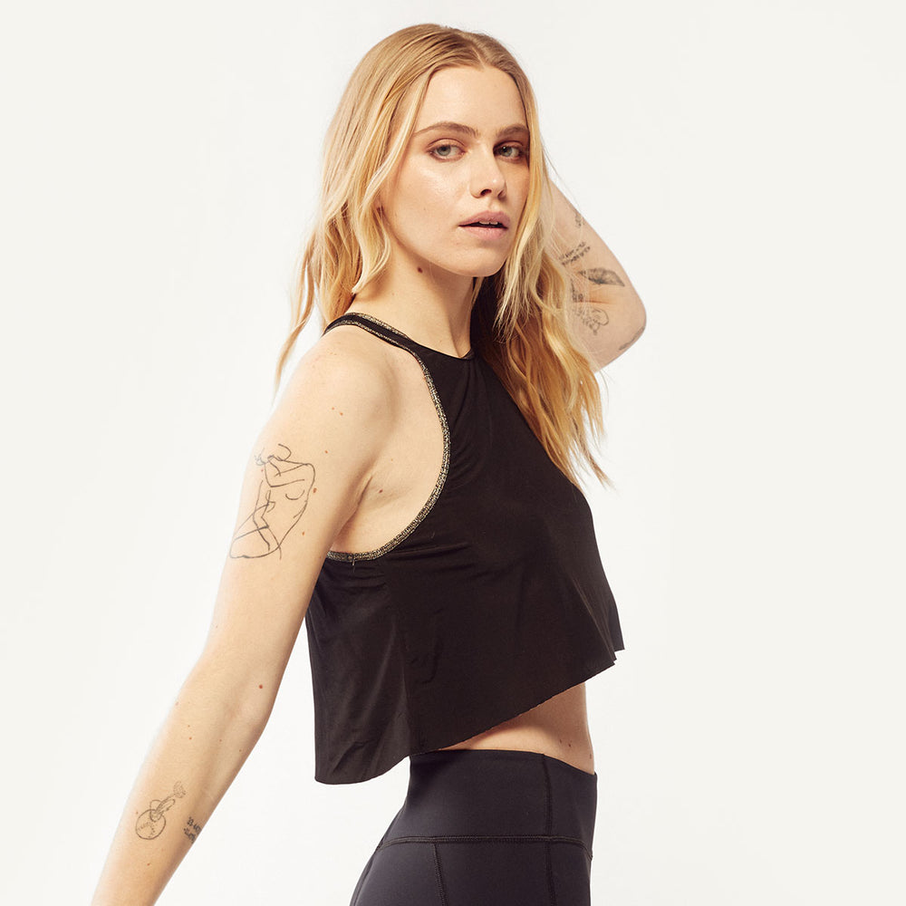 The Cropped Sheer Tank