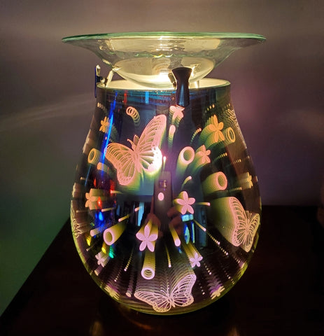 3d butterfly oil warmer by aroma delights