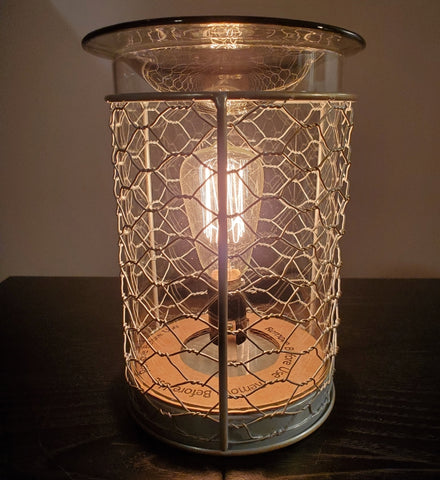 chicken wire oil warmer by aroma delights