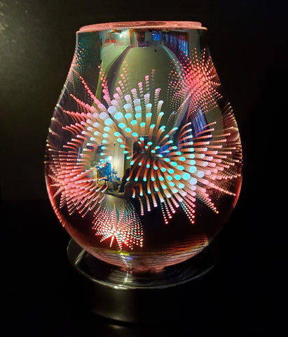 3d fireworks oil warmer by aroma delights