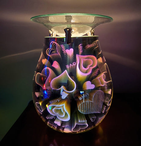 3d heart oil warmer by aroma delights