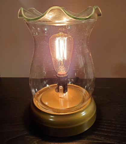 hurricane lamp oil warmer by aroma delights