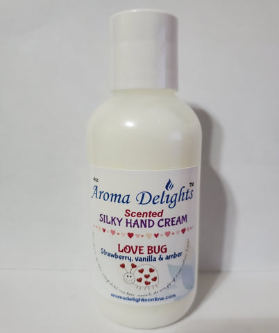 love bug silky hand cream by aroma delights