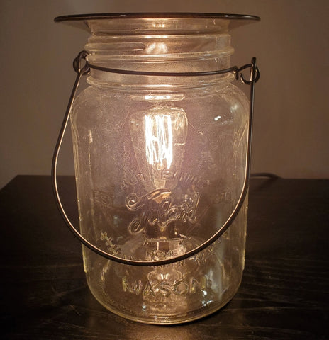 mason jar oil warmer by aroma delights