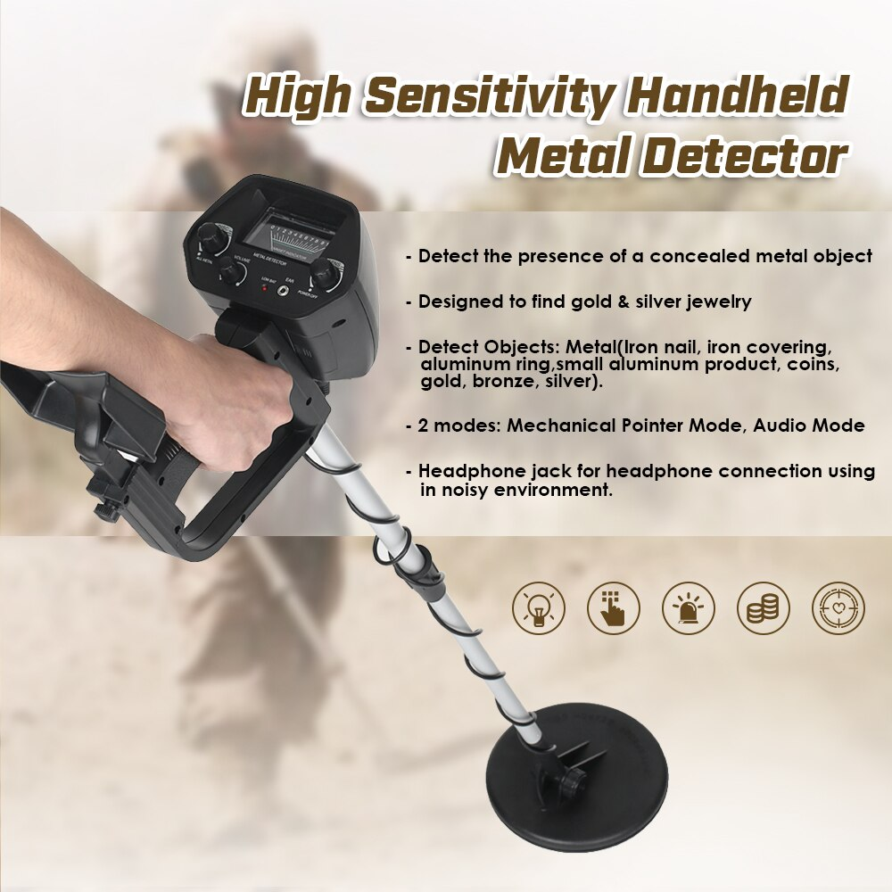 WATERPROOF METAL/GOLD DETECTOR