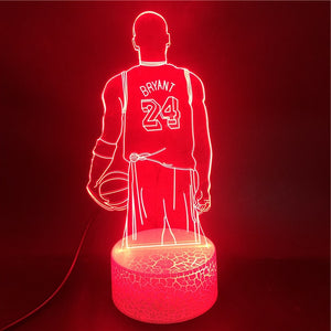 Kobe Bryant 3D Night Light Lamp