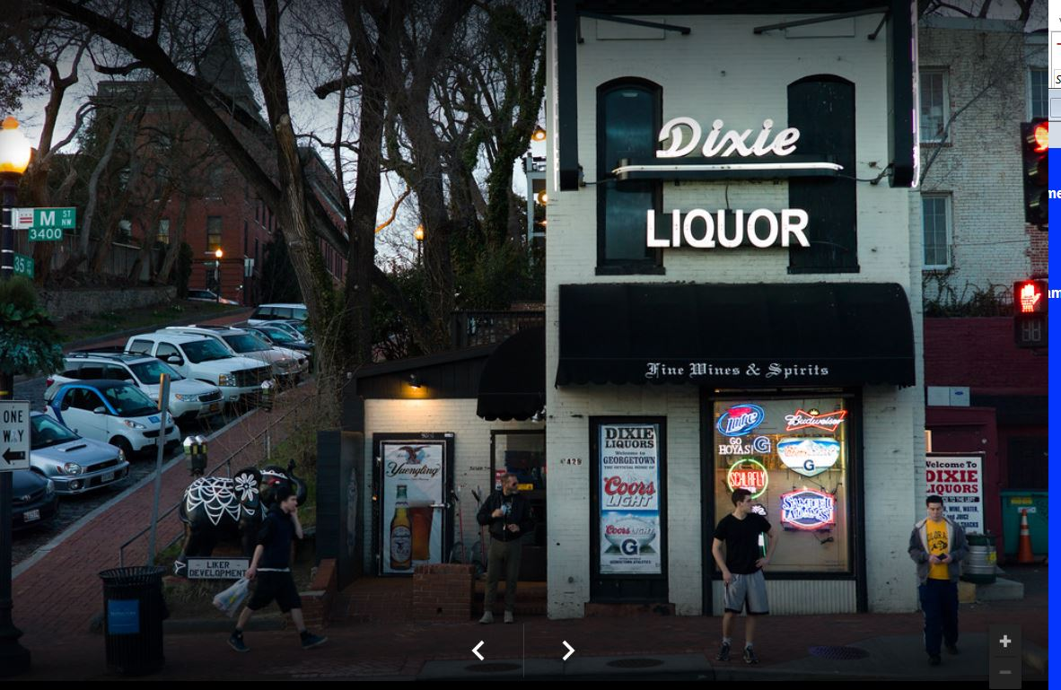 Dixie Liquor has become a city landmark since establishing in 1934. Located in the historic neighborhood of Georgetown directly across from the Key Bridge.