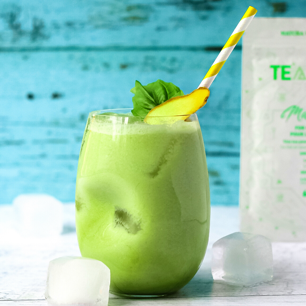 Teangle Matcha Iced Pineapple Matcha Latte