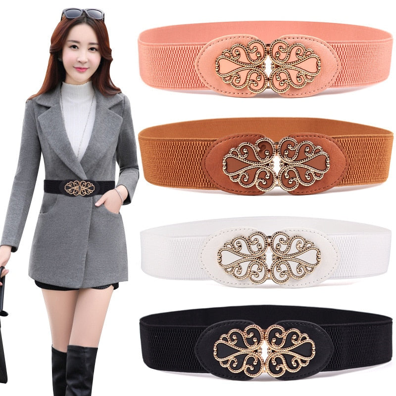 KWD Designer Belts High Quality Women Fashion 2019 Ladies  Elastic Cummerbunds Slimming Waist Belt Luxury Dress Ceinture Female