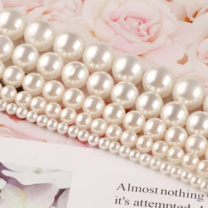 Natural White Shell Pearl Round Loose Beads For Jewelry Making Choker Making Diy Bracelet Jewellery 2/3/4/6/8/mm Wholesale15''