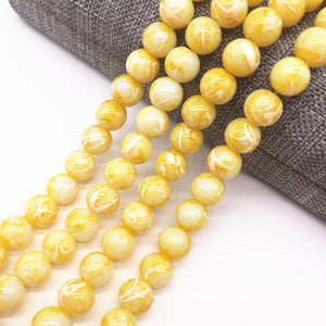 Wholesale 4/6/8mm Double Salad Glass Beads Loose Spacer Painted Pearl Charm DIY Jewellery Making