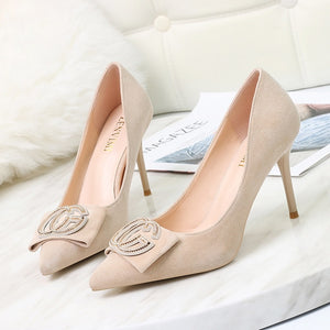 Women Classic Shoes High Heel Pumps Fashion 2019 Ladies Pointed Toe Wedding Dress Shoes Female Thin Heels Zapatos Mujer  Autumn