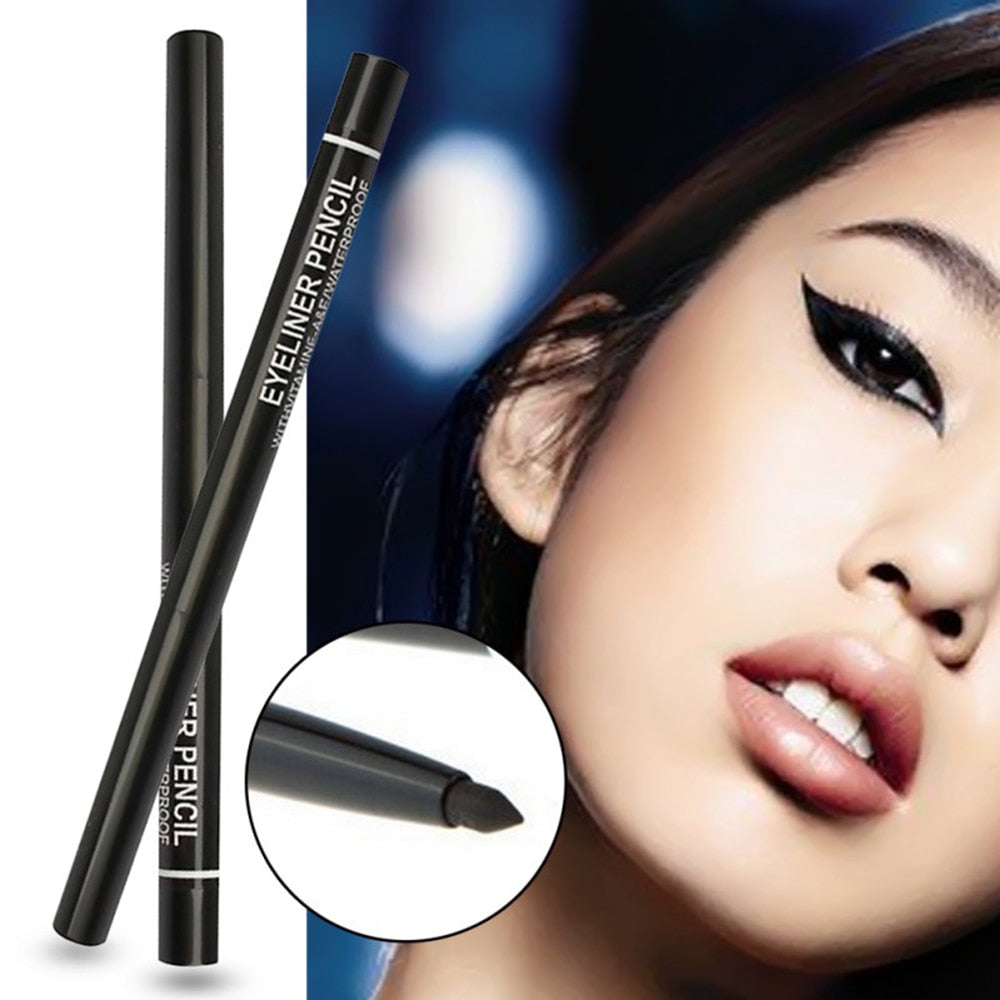 1PC Black Eyeliner Waterproof Eye Liner Pencil Makeup Cosmetic Long-lasting Professional Eyeliner Maquillaje TSLM2