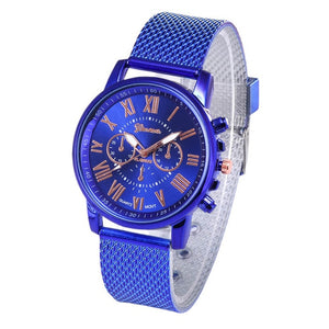 Foloy digital women watches Quality Fashion Geneva Roman Numerals Faux Leather Analog Quartz Ladies watch Bracelet Clock Gift