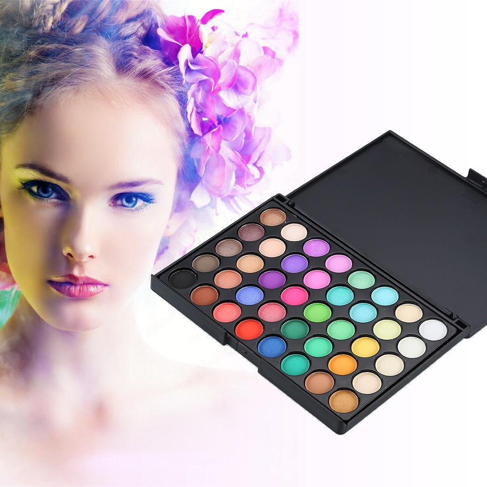 40 Colors Pressed Glitter Matte Eyeshadow Pallete Waterproof Long Lasting Pigment Matte Eye Shadow Cosmetic Makeup Palette TSLM2