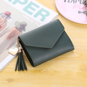 Women's Wallet Cute Student Tassel Pendant Trend Small Fashion PU Wallet 2020 Coin Purse Women Ladies Card Bag For Women LMJZ