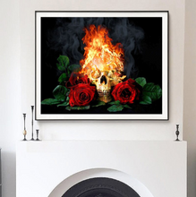 Load image into Gallery viewer, Rose & Skull & Fire