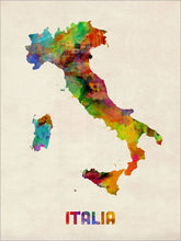 Load image into Gallery viewer, Italy Watercolor Map