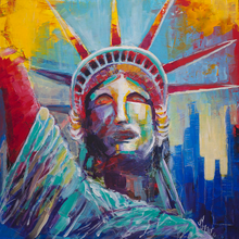 Load image into Gallery viewer, Liberty Statue Watercolor