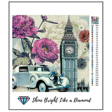 Load image into Gallery viewer, Big Ben And Purple Flowers