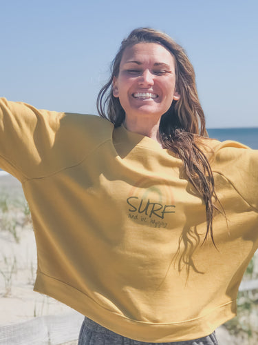 Surf and Be Happy - Cropped Sweatshirt