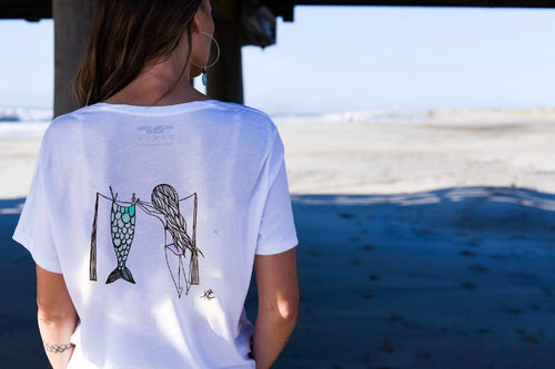 Mermaid at Heart - raglan tee