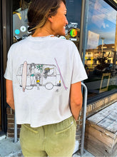 Load image into Gallery viewer, Sisters of the Sea - Flowy Crop Tee