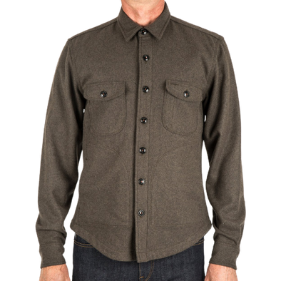 The Anvil Shirt Jacket-Military Green