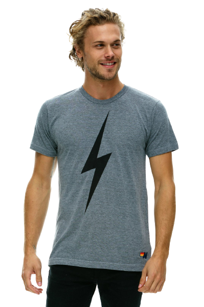 Aviator Nation - Bolt Crew Tee - Heather Grey