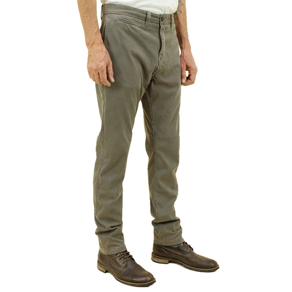 Kato- The Axe Slim Beige Hounds Tooth Denit Slim Chino
