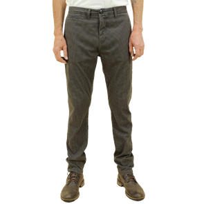 Kato - The Axe Slim Brown Hounds Tooth Denit Slim Chino - Brown