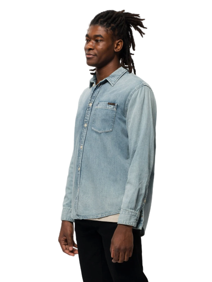 Nudie Jeans - Albert Shirt - Blue Denim