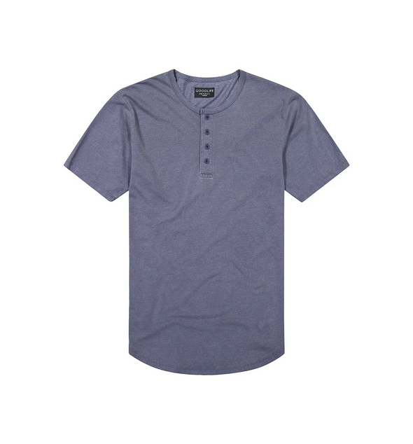 Goodlife - Sun Faded Scallop Henley - Midnight