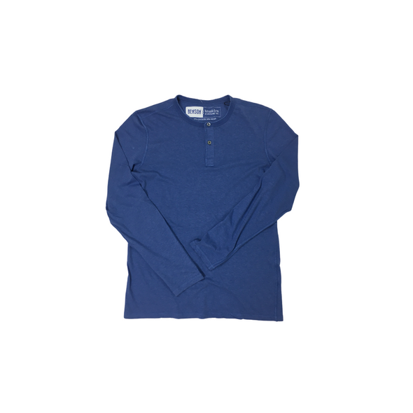 Benson x Brooklyn Clothing Charity Hemp Henley - Indigo