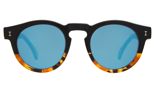 Illesteva - Leonard - 50/50 Light Tortoise Split w/ Blue Mirror