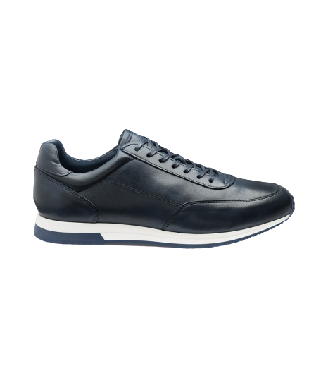 Loake- BANN Bannister Burnished Calf Trainer- Navy