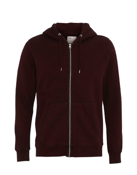 Colorful Standard Classic Organic Zip Hood- Oxblood Red