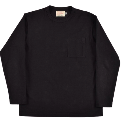 Dehen- Long Sleeve Pocket Tee - Black