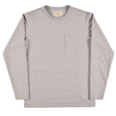 Dehen- Long Sleeve Pocket Tee - Heather Gray