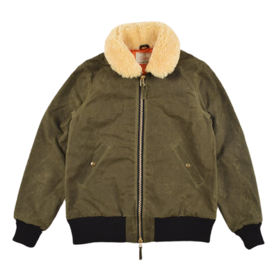 Dehen- Flyers Club Jacket - Loden/Gold Mouton