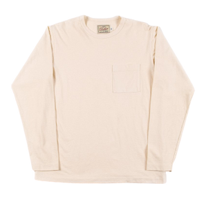 Dehen- Long Sleeve Pocket Tee - Natural