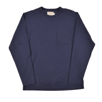 Long Sleeve Pocket Tee - Navy